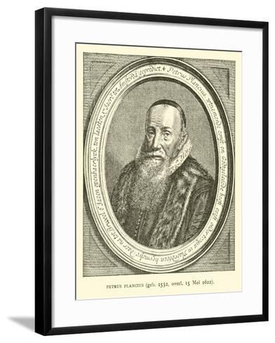 Petrus Plancius, Dutch Astronomer, Cartographer and Clergyman--Framed Art Print