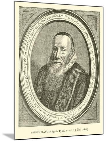 Petrus Plancius, Dutch Astronomer, Cartographer and Clergyman--Mounted Giclee Print