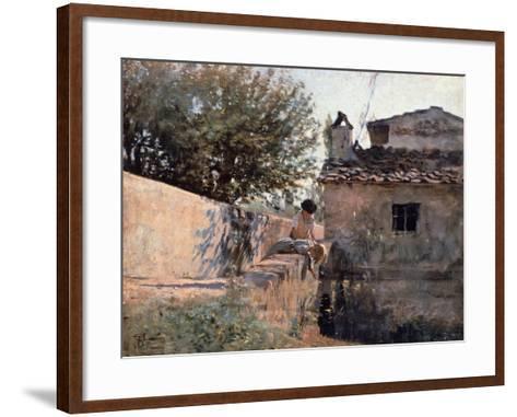Bridge on the Affrico in Piagentina, 1863-1864-Telemaco Signorini-Framed Art Print