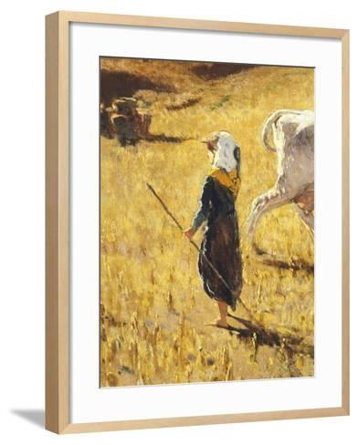 Pastures in Castiglioncello, 1861-Telemaco Signorini-Framed Art Print