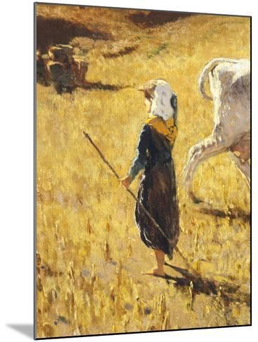 Pastures in Castiglioncello, 1861-Telemaco Signorini-Mounted Giclee Print