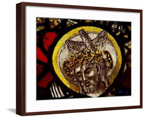 Window S1 Depicting Christ - from the Trinity Panel--Framed Art Print