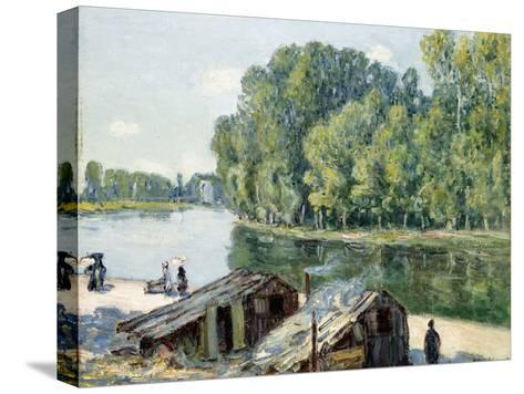 Huts Along the Canal Du Loing, Effect of Sunlight, 1896-Alfred Sisley-Stretched Canvas Print