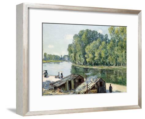 Huts Along the Canal Du Loing, Effect of Sunlight, 1896-Alfred Sisley-Framed Art Print