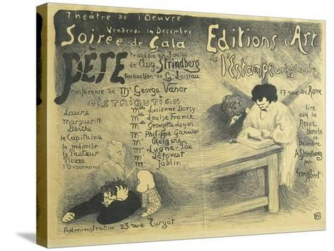 Paris Opera Programme, Including Works by August Strindberg, 1894-F?lix Vallotton-Stretched Canvas Print