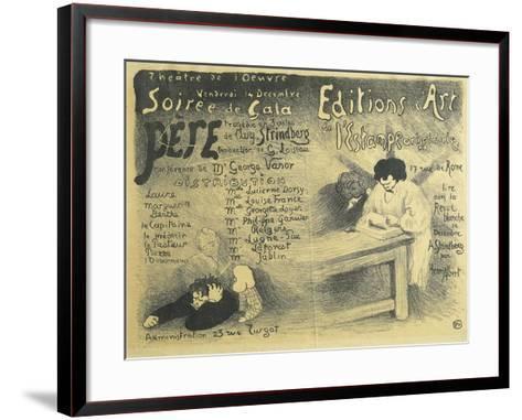 Paris Opera Programme, Including Works by August Strindberg, 1894-F?lix Vallotton-Framed Art Print