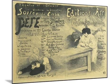 Paris Opera Programme, Including Works by August Strindberg, 1894-F?lix Vallotton-Mounted Giclee Print