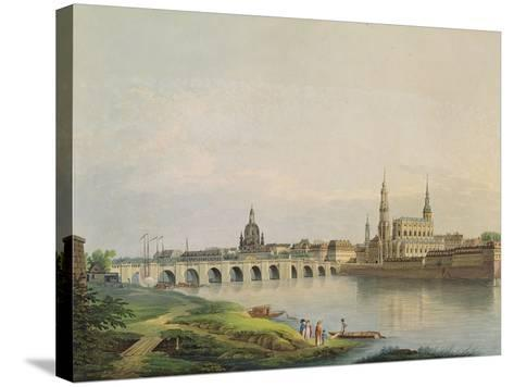 View of Dresden from the Western Part of the New Town-Gottlob Thormeyer-Stretched Canvas Print
