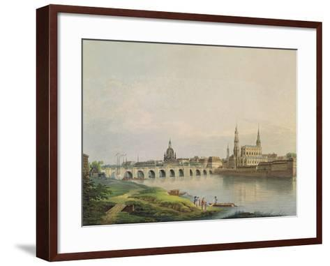 View of Dresden from the Western Part of the New Town-Gottlob Thormeyer-Framed Art Print