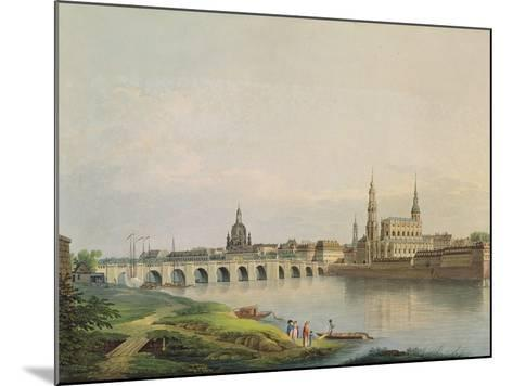 View of Dresden from the Western Part of the New Town-Gottlob Thormeyer-Mounted Giclee Print