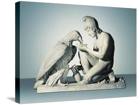 Ganymede with Eagle of Zeus-Bertel Thorvaldsen-Stretched Canvas Print