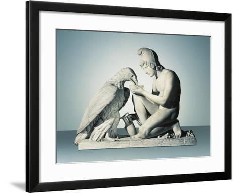 Ganymede with Eagle of Zeus-Bertel Thorvaldsen-Framed Art Print