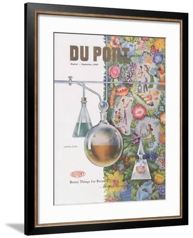 Aromatics, Front Cover of 'The Du Pont Magazine', August-September 1949--Framed Art Print