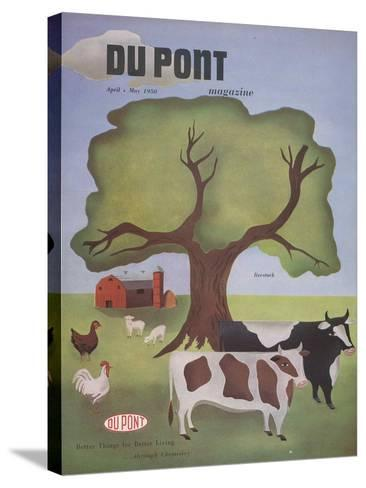 Livestock, Front Cover of 'The Du Pont Magazine', April-May 1950--Stretched Canvas Print