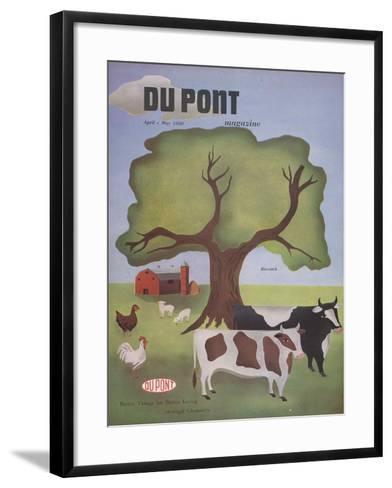 Livestock, Front Cover of 'The Du Pont Magazine', April-May 1950--Framed Art Print