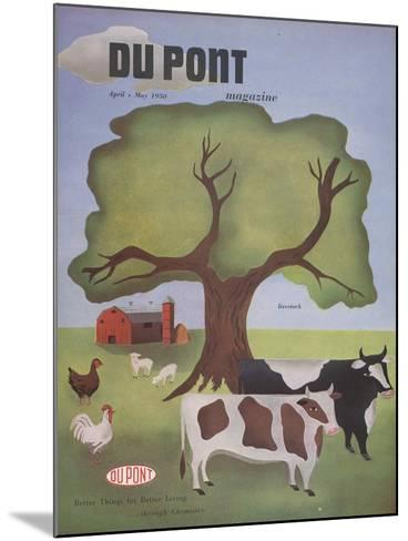 Livestock, Front Cover of 'The Du Pont Magazine', April-May 1950--Mounted Giclee Print