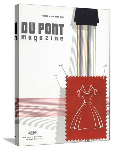 Textiles, Front Cover of 'The Du Pont Magazine', October-November 1955--Stretched Canvas Print