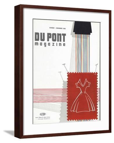 Textiles, Front Cover of 'The Du Pont Magazine', October-November 1955--Framed Art Print