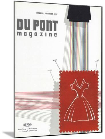 Textiles, Front Cover of 'The Du Pont Magazine', October-November 1955--Mounted Giclee Print