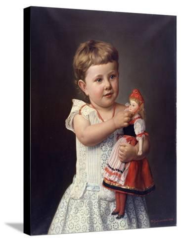 The Artist's Granddaughter, Olga Graupenstein, 1888-Friederich Wilhelm Graupenstein-Stretched Canvas Print