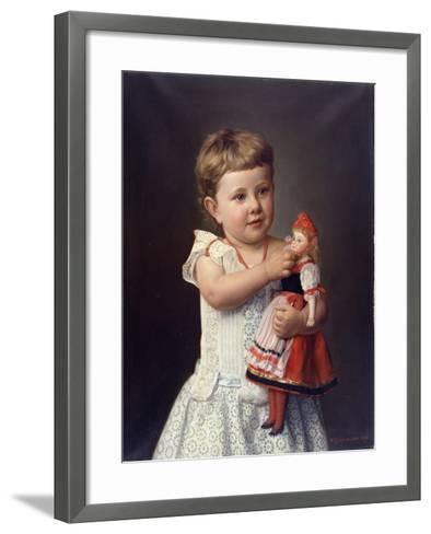 The Artist's Granddaughter, Olga Graupenstein, 1888-Friederich Wilhelm Graupenstein-Framed Art Print