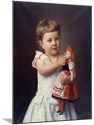 The Artist's Granddaughter, Olga Graupenstein, 1888-Friederich Wilhelm Graupenstein-Mounted Giclee Print