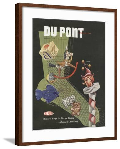 Toys, Front Cover of the 'Dupont Magazine', December 1949-January 1950--Framed Art Print