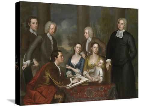 The Bermuda Group, Dean Berkeley and His Entourage, 1728, Reworked 1739-John Smibert-Stretched Canvas Print