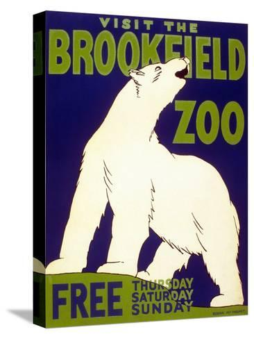 Poster Advertising Brookfield Zoo in Chicago, Illinois, 1938--Stretched Canvas Print