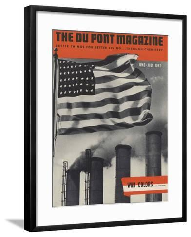 War Colors, Front Cover of 'The Du Pont Magazine', June-July 1942--Framed Art Print