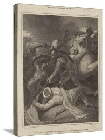 Sir Thomas Arundell Taking the Standard of the Turks-Robert Smirke-Stretched Canvas Print