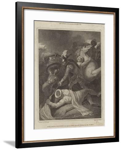 Sir Thomas Arundell Taking the Standard of the Turks-Robert Smirke-Framed Art Print