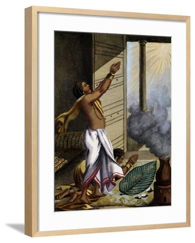 Indian Prayer Pongol, Engraving-Pierre Sonnerat-Framed Art Print
