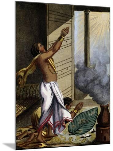 Indian Prayer Pongol, Engraving-Pierre Sonnerat-Mounted Giclee Print
