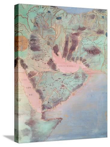 Map of the Countries of the Persian Golf, from the 'Sala Del Mappamondo'-Antonio Giovanni de Varese-Stretched Canvas Print