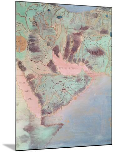 Map of the Countries of the Persian Golf, from the 'Sala Del Mappamondo'-Antonio Giovanni de Varese-Mounted Giclee Print