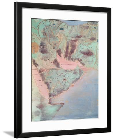 Map of the Countries of the Persian Golf, from the 'Sala Del Mappamondo'-Antonio Giovanni de Varese-Framed Art Print