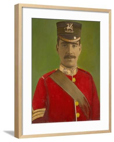 Portrait of Acting Corporal William Reginald Cotter VC--Framed Art Print