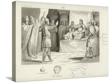 Louis I, King of the Franks and Holy Roman Emperor--Stretched Canvas Print