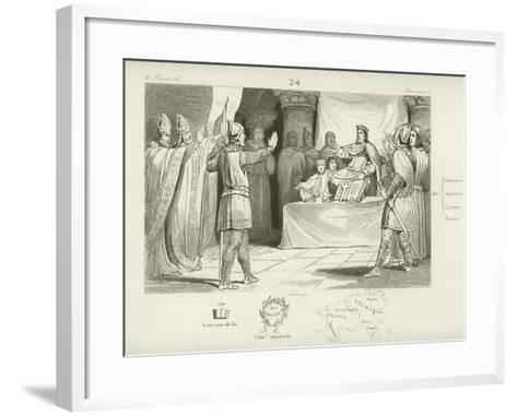 Louis I, King of the Franks and Holy Roman Emperor--Framed Art Print
