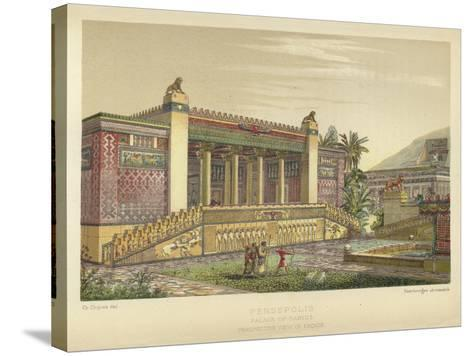 Persepolis, Palace of Darius, Perspective View of Facade--Stretched Canvas Print