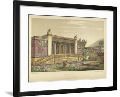 Persepolis, Palace of Darius, Perspective View of Facade--Framed Art Print