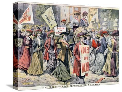 Suffragette Demonstration in London, from 'Le Petit Journal', 1908--Stretched Canvas Print