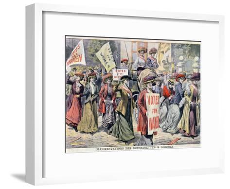 Suffragette Demonstration in London, from 'Le Petit Journal', 1908--Framed Art Print