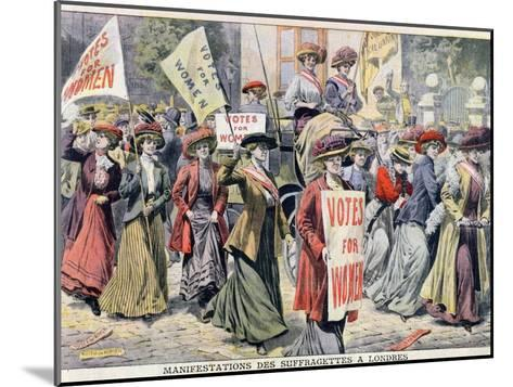 Suffragette Demonstration in London, from 'Le Petit Journal', 1908--Mounted Giclee Print