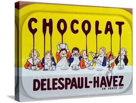 Coffee Tray Advertising 'Delespaul-Havez' Chocolate--Stretched Canvas Print