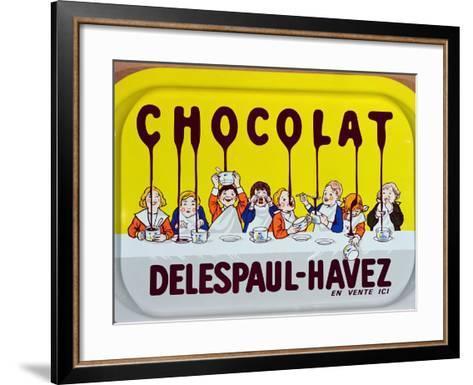 Coffee Tray Advertising 'Delespaul-Havez' Chocolate--Framed Art Print