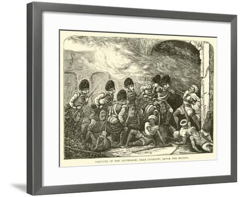 Capture of the Alumbagh, Near Lucknow, after the Mutiny--Framed Art Print