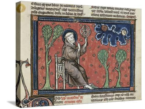 Ms 320 Fol.194V Astronomy, from 'De Natura Rerum' by Thomas Van Cantimpre--Stretched Canvas Print