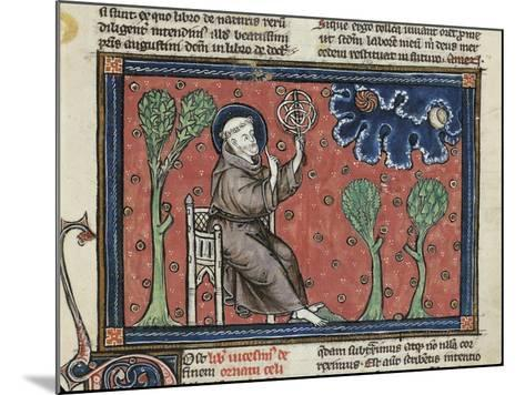 Ms 320 Fol.194V Astronomy, from 'De Natura Rerum' by Thomas Van Cantimpre--Mounted Giclee Print